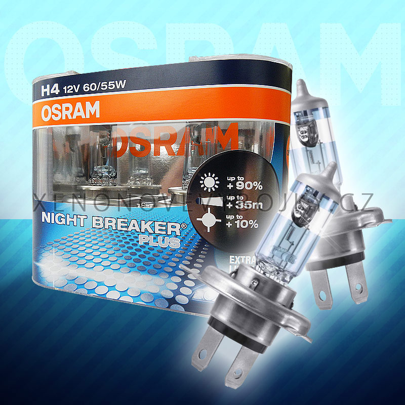 Autožárovky H4 OSRAM Night Breaker Unlimited 55W