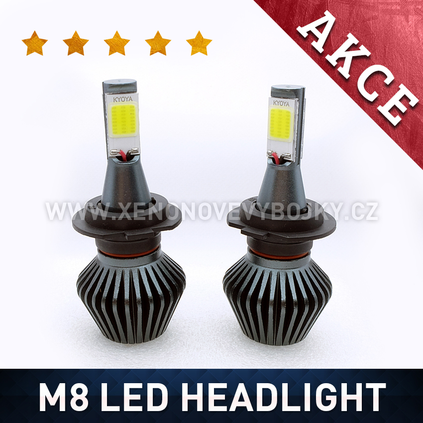 M8 LED HEADLIGHT H8 6000K 36W / 3800LM 12V/24V