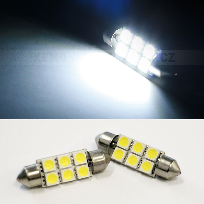 Sufitka bílá - Super 6xSMD LED SINGLE, 39mm